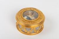 Coffret cristal et bronze, peinture sur ivoire, 19e siècle Napoléon III