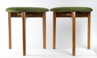 Paire de Tabourets de Guillerme et Chambon, design des années 60