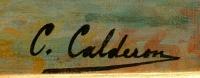 Calderon Charles Clément Ecole Française 19è Venise Bassin De Saint Marc Ensoleillé Huile sur toile signée