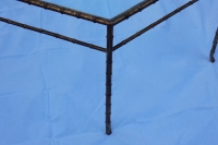 1950/70 Table Basse Hexagonale Modele Bambou Maison Bagués