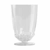 """Service à Orangeade """"Blois"""" verre blanc de René LALIQUE - 7 pièces"""