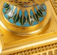 Paire de vases pompéien, Barbedienne A. H. Constant Sevin , XIXème