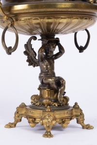A French 19th Century Napoléon III Ormulu and Patinated Bronze Centerpiece.