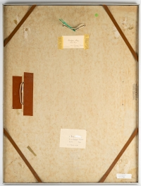 Monotype de Luez, encadré sous verre, XXème siècle.