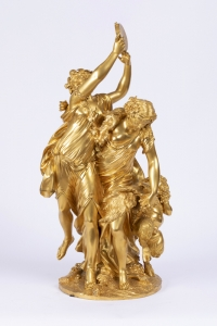 A sensational 19th century bronze statue «Bacchanale» by Clodion (1738-1814).