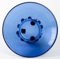 "Vase ""Farandole"" verre bleu saphir de René LALIQUE"