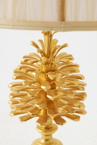 Maison Charles, Lampe « Pomme de pin » en bronze doré, années 1970