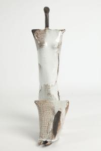 Lubomir Silar - Figure féminine hiératique, sculpture en céramique