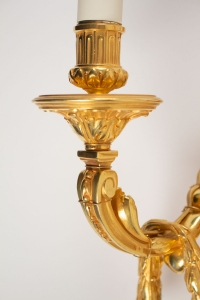 A Pair of Louis XVI style wall-lights.