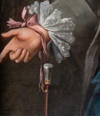JPF Hauck. Portrait d'un gentilhomme 1755.