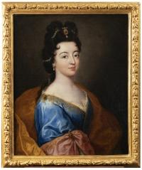 Portrait d'une élégante - Attribué à Alexis Simon Belle (1674-1734)