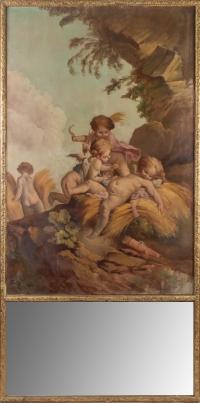 Trumeau de style Louis XVI époque Napoléon III