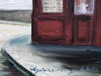 GAZI Le Tatar Montmartre Huile sur toile signée et située