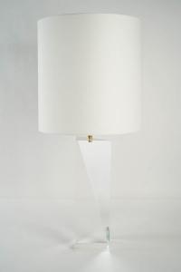 1970s Prism Shaped Plexiglas Lamp