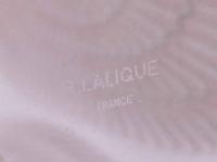 """Vase """"Los Angeles"""" verre blanc patiné sépia de René LALIQUE"""