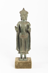 Bouddha bronze Vitarka Mudra Lopburi 15e siècle
