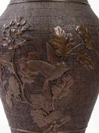 Paire de vases en bronze, Japon XIXème