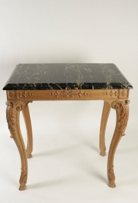 Oak Hand Carved Gueridon Table, Style of Louis XV