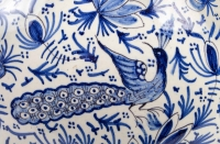 Paire de Vases couverts Delft Faïence XIXème siècle.