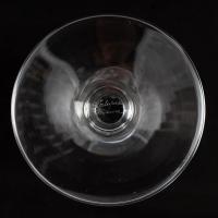 """Suite de 10 flûtes à champagne """"Ange de Reims"""" cristal blanc de Marc LALIQUE"""