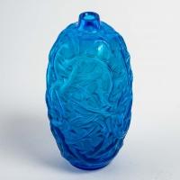 """Vase """"Ronces"""" verre bleu électrique de René LALIQUE"""