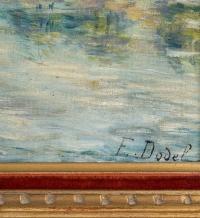 """""""Bord de rivière""""  de Elisabeth Dodel, début XXème."""