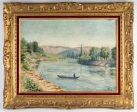 """""""Bords de rivière""""  de Elisabeth Dodel, début XXème."""