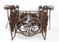 Raymond SUBES (1891-1970) - Importante cage de lustre aux animaux en fer forgé 1920
