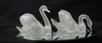 """Lalique France : Surtout de Table """"Cygnes"""""""