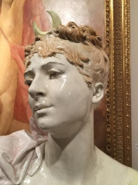 """Buste """"DIANE"""" en céramique, signé A.Carrier-Belleuse. Réf: 165"""