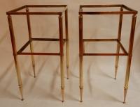 1950/70′ Paire de Bouts de Canapés Bronze, Style Maison Baguès 31 X 31 cm
