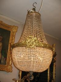Lustre corbeille de style Louis XVI. Réf: 166