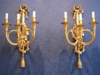 Paire d'appliques en décor de trompe de chasse d'époque Napoléon III (1848 - 1870).