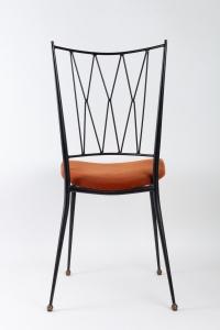 Série de 4 Chaises en fer 1960