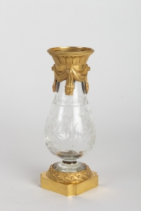 Paire de vases en cristal 19e siècle