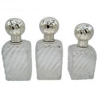 Cardeilhac & Baccarat XIXe, 3 Toilet Bottles