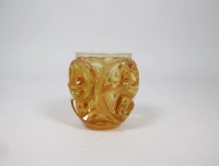 "Lalique France : Vase ""Tourbillon""Ambre"