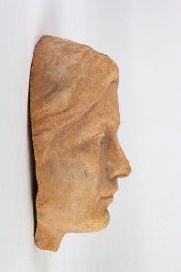Sculpture visage de Femme en Terre-cuite