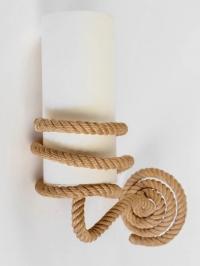 1950s Pair Od Audoux Minet Rope Sconces