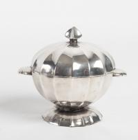 Ensemble à Thé et Café en métal argenté Art Déco 1930