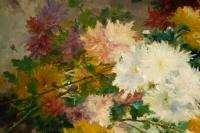 Eugène Henri Cauchois (1850 - 1911): Jetée de chrysanthèmes.
