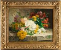 Eugène Henri Cauchois (1850 - 1911): Chrysanthemums.