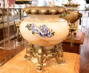 Eugène CORNU - Important vase en onyx d'Algérie XIXème