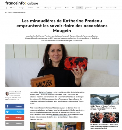 Article de Presse - Catherine Pradeau et les accordéons Maugein - France Info Culture|