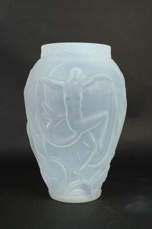 """Rare Vase """"Volupté"""" de Etling"""