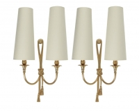 1950s Maison Bagues Large Pair of Neoclassical Sconces