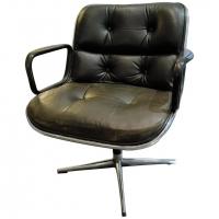 """Charles Pollock, Knoll, fauteuil """"executive chair"""" noir"""