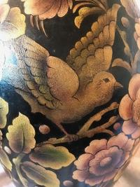 Coupe en céramique de BOCH Frères, peint par Chaput. Réf: 358.