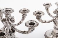 Orfèvre TETARD à Paris  - Paire de bouts de table en argent massif  début XXè