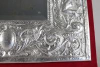 Miroir, XIXème siècle, en métal argenté à la feuille d'argent, époque Napoléon III